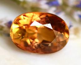 Tourmaline 1.35Ct Natural Yellowish Orange Color Tourmaline  D1620/B49