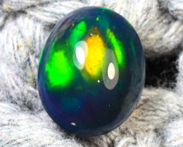 Welo Opal 2.63Ct Natural Ethiopian Smoked Play of Color Opal D1631/A3
