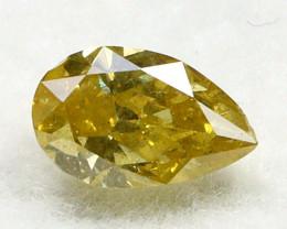 Yellowish Orange Diamond 0.31Ct Natural Untreated Genuine Diamond C1343