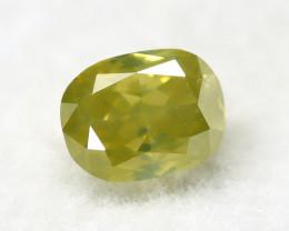 Greenish Yellow Diamond 0.24Ct Natural Untreated Genuine Diamond A1344