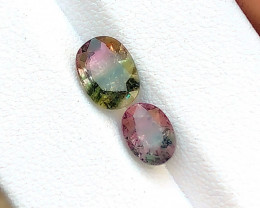 2.55 Carats Natural Bi Color Tourmaline Cut Stone from Afghanistan