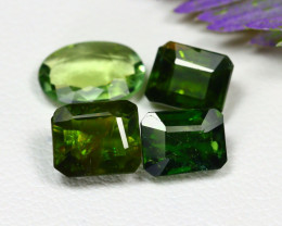 Tourmaline 4.09Ct 4Pcs Natural Mozambique Green Color Tourmaline C1324