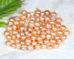 5.0mm 57.3Ct Natural Freshwater Pink Color Pearl Drilled B1321