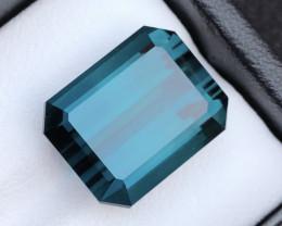 GSGC Certified AAA Grade 19.40 ct Amazing Color Grenish Blue  Tourmaline