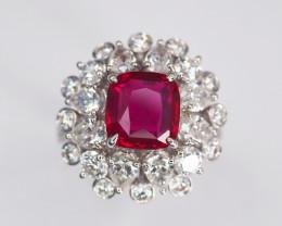 2.79ct Unheated Burma Ruby Ring