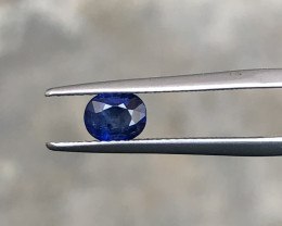 HGTL Certified 0.75 Carats Natural Sapphire Nice Cut Gemstone