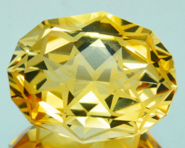 ~CUSTOM CUT~ 9.68 Cts Natural Golden Orange Citrine Fancy Cushion Brazil