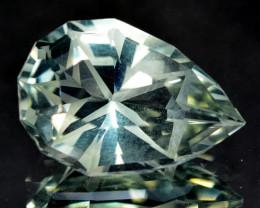 6.36 Cts Genuine 100% Natural Prasiolite Amethyst Pear Custom Cut REF VIDE