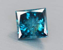 Blue Diamond 0.16 Cts Sparkling Natural Fancy Intense Blue Color