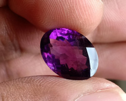 6 Ct Amethyst Checkered Faceted Natural Untreated Gemstone VA2636