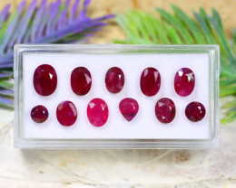 Red Ruby 9.48Ct Natural Mozambique Red Ruby Lot A1420
