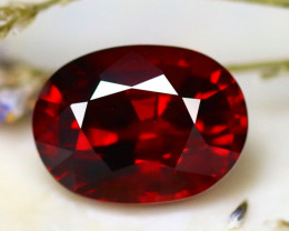 Almandine 4.05Ct Natural Vivid Blood Red Almandine Garnet E1706/A5
