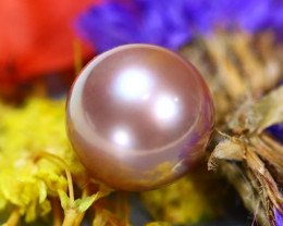 11.20MM 10.14Ct Natural Tahitian Light Aubergine Color Pearl E1712/A244