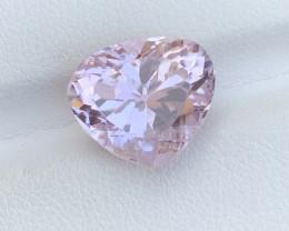 7.70 Carat Heart shape pink color Kunzite Gemstone