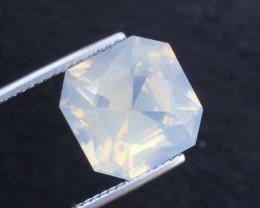 10.55Ct Top Asscher Cut Pink Moonstone