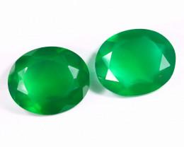 7.57cts Natural Green Onyx Pairs  /OCMA2803