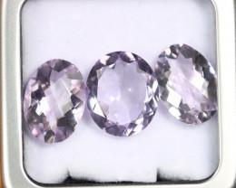 13.57cts Natural Light Purple Amethyst LOTS /OBMA2809