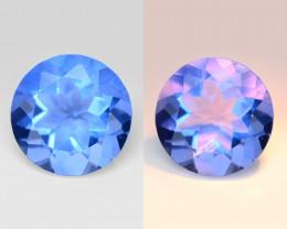 Color Change Fluorite 4.13 Cts Blue Change to Violet Natural Gemstone