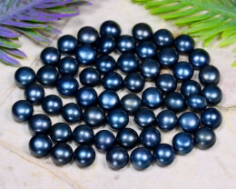 6.5mm 83.61Ct Natural Freshwater Black Color Pearl Drilled A1511
