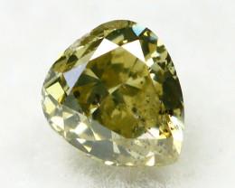Greenish Yellow Diamond 0.27Ct Natural Untreated Genuine Diamond B1543