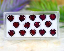 Red Garnet 13.37Ct VVS Heart Cut Natural Red Color Garnet Lot A1535