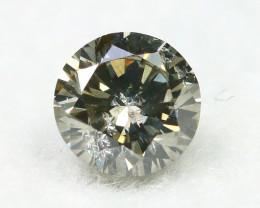 Yellowish Grey Diamond 0.21Ct Natural Untreated Genuine Diamond C1540