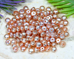 4.0mm 54.80Ct Natural Freshwater Pink Color Pearl Drilled B1509