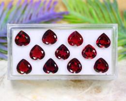 Red Garnet 13.00Ct VVS Heart Cut Natural Red Color Garnet Lot B1527