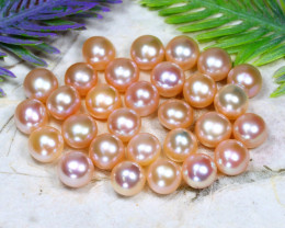 7.6mm 86.95Ct Natural Freshwater Pink Color Pearl Drilled C1505