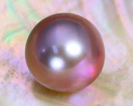 12.0mm 12.74Ct Natural Oceania South Sea Purplish Pink Pearl C1509