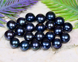 8.6mm 83.53Ct Natural Freshwater Black Color Pearl Drilled C1515