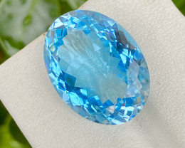 Natural Blue Topaz 19.75 Cts Good Luster