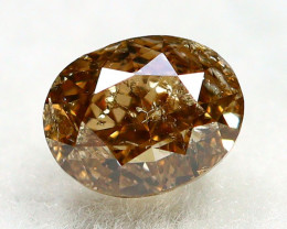 Yellowish Brown Diamond 0.29Ct Natural Untreated Genuine Diamond A1644