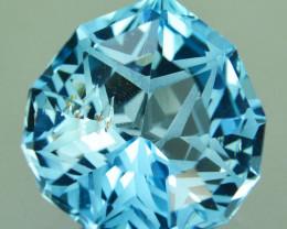 7.69 Cts Genuine 100% Natural Swiss Blue Topaz Fancy Custom Cut REF VIDEO