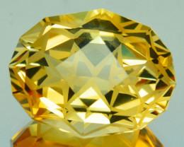 ~CUSTOM CUT~ 10.58 Cts Natural Golden Orange Citrine Fancy Cushion Brazil