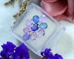 Unheated Sapphire 6.00Ct 9Pcs Natural Fancy Sapphire DR706/B20