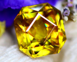 Sphene 1.60Ct Natural Rainbow Flash Chartreuse Green Sphene DR721/A51