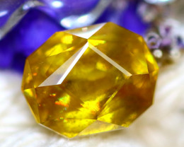 Sphene 2.50Ct Natural Rainbow Flash Chartreuse Green Sphene  DR724/A51