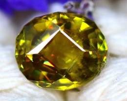 Sphene 2.50Ct Natural Rainbow Flash Chartreuse Green Sphene DR725/A51