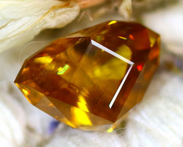 Sphene 3.06Ct Natural Rainbow Flash Chartreuse Green Sphene DR722/A51
