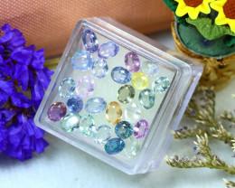 Unheated Sapphire 10.18Ct 25Pcs Natural Fancy Sapphire ER695/B20