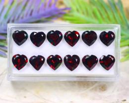 Almandine 16.16Ct VVS Heart Cut Natural Almandine Garnet Lot A1621