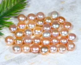 9.0mm 112.42Ct Natural Freshwater Golden Color Pearl Drilled B1618