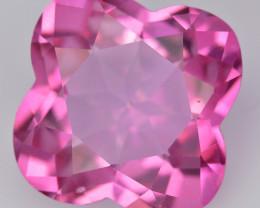 Pink Topaz 12.59 Cts Flower Cut Fancy Color Natural Gemstone
