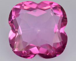 Pink Topaz 12.54 Cts Flower Cut Fancy Color Natural Gemstone