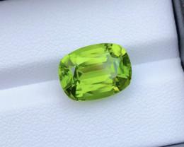 8.65 Carat Natural Grass Color Peridot Gemstone