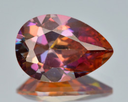 Azotic Topaz 3.23 Cts Fancy Siberian Sun Color Natural Gemstone
