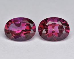 Topaz 4.51 Cts 2Pcs Fancy Pink Color Natural Gemstone- Pair
