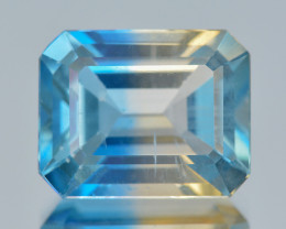 Azotic Topaz 3.87 Cts Awesome Bi-Color Natural Gemstone