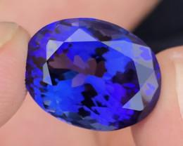 AAA Grade Tanzanite 14.65 ct Attractive Blue
